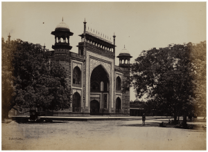 A 19th Century Albumen Print Photograph of India By Shepard & Robertson Gate of The Taj Mahal
