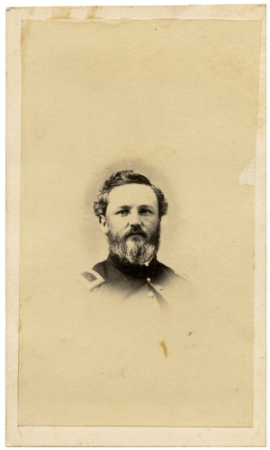 A 19th Century CDV Civil War Solider Profile Photo Card Of A Union Officer