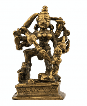 A 17th-18th Century Indian Copper Alloy Durga Shrine