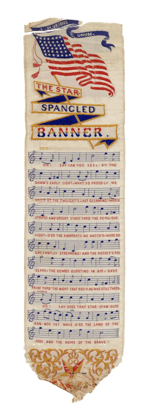 A 19th Century Silk Star Spangled Banner Ribbon