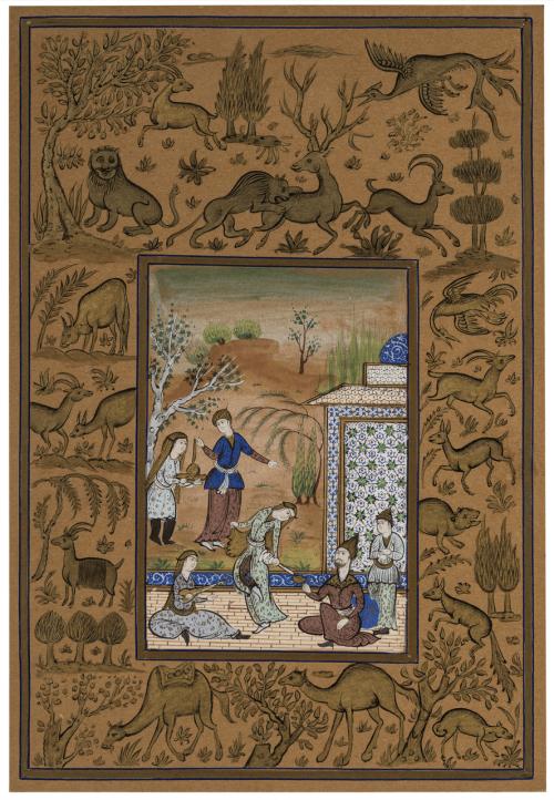 A Persian School Manuscript Painting