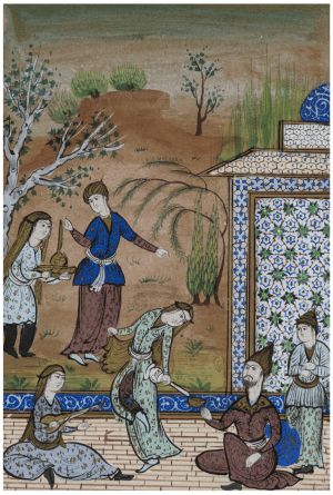 A Persian School Manuscript Painting