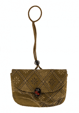 An Antique Japanese Tobacco Pouch & Ojime Bead