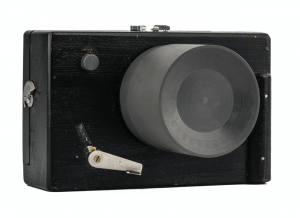 A Vintage Wooden Prototype Camera Body & Lens