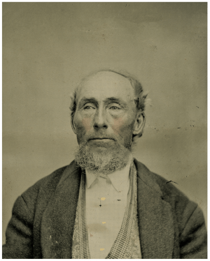 A 19th Century American Tintype Photograph Of A Gentleman
