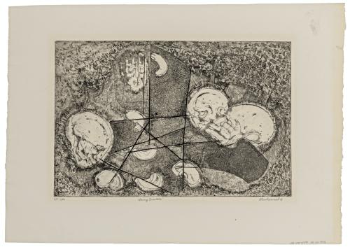 """A Vintage Lithograph Print Signed Shoshannah """"String Quartette"""" Artist Proof"""