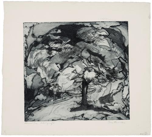 "A Vintage Intaglio Artist Proof Print Signed Doris Kreindler 1901-1974 ""Almond Trees"""