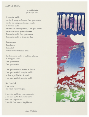 "A Vintage Serigraph of  ""Poem Dance Song"" By Anne Waldman"