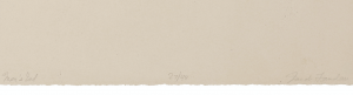 """Vintage Monochrome Print Signed Jacob Landau """"Mans End"""""""