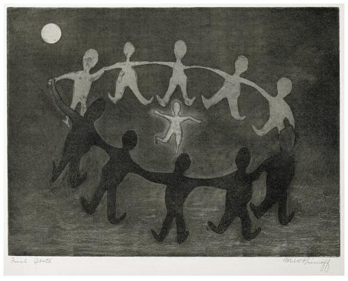 A Vintage Intaglio Print Signed W.M Primoff
