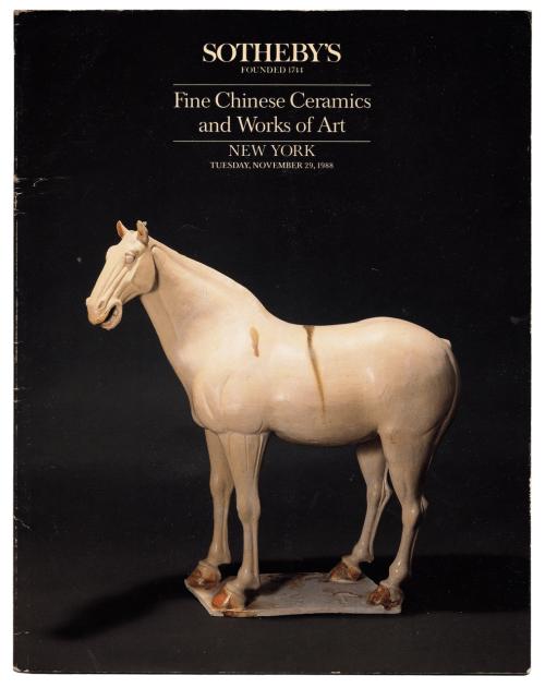 Sotheby's Fine Chinese Ceramics & Works Of Art NY November 1988 Auction Catalog