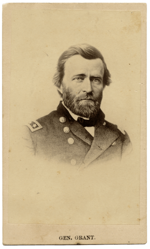 A 19th Century Photo Card Of General Ulysses S. Grant