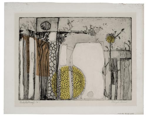 A Vintage Intaglio Artist Proof Print Signed Cheryl Sreco