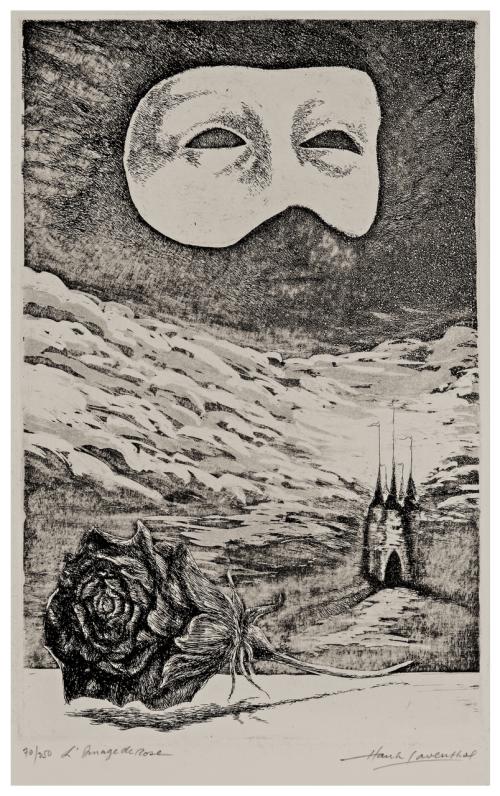 "A Vintage Intaglio Print ""L'Image De Rose"" Signed Hank Laventhol"