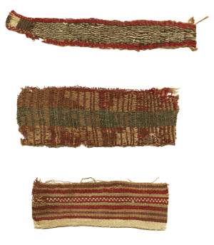 A Set Of Three Pre-Columbian Peruvian Textile Fragments