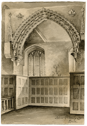 An 18th Century English Interior Architectural Drawing Of Sonning Church Berkshire