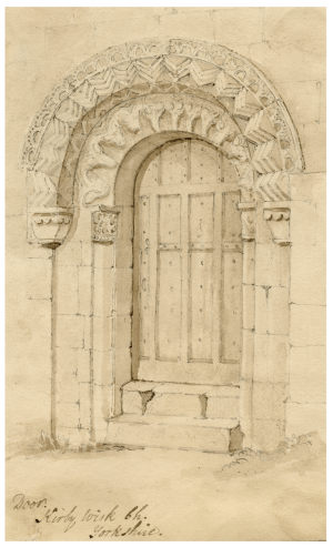 "An 18th-19th Century British Architectural Drawing Of Kirby Wisk Yorkshire ""Door"""