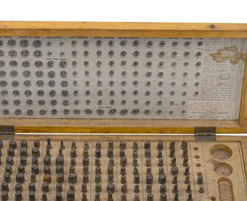 An Antique Dental Tool Metal Teeth Set