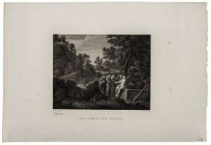 An Antique 19th Century British Engraving, The Tomb Of Our Savior After The Work By Pier Francisco Mola