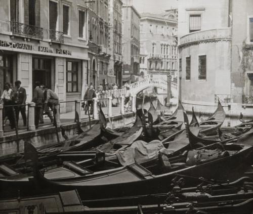 Vintage Italian photograph Venice grand canal