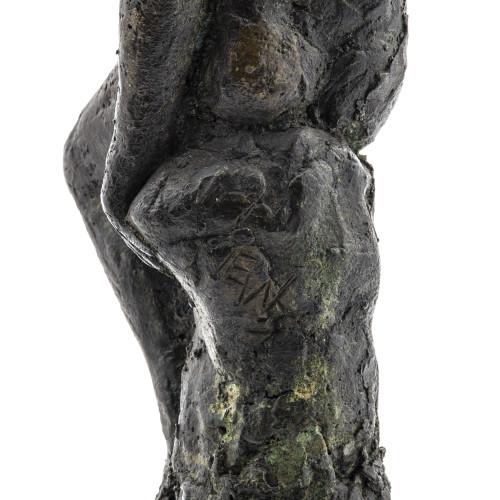 Vintage Bronze Man Modern Figural Sculpture
