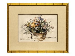 An Original Roslind Oesterle Watercolor Painting Wall Art