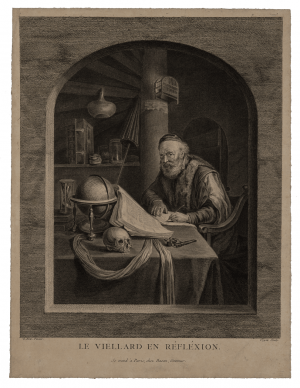 Nicholas Joseph Voyez 1742-1806, After Gerrit Dou Engraving