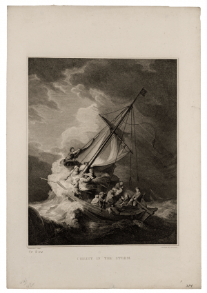 An Antique Engraving By J. Fittler After Rembrandt Christ In The Storm Circa 1807