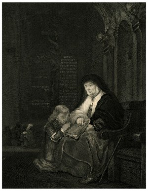 A 18-19th Century Antique Engraving By James Fittler Samuel & Ell Rembrandt