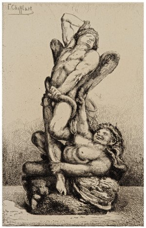 "A 19th Century French Etching By Francois Chifflart ""Les Liens Du Mal""  A. Cadart"