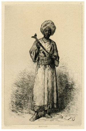 "A 19th Century French Etching Alfred Cadart ""Marocain"""