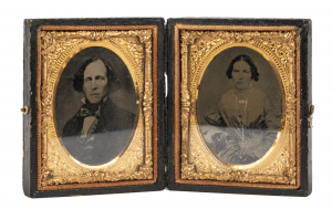 An Antique Double Portrait Case Ambrotype