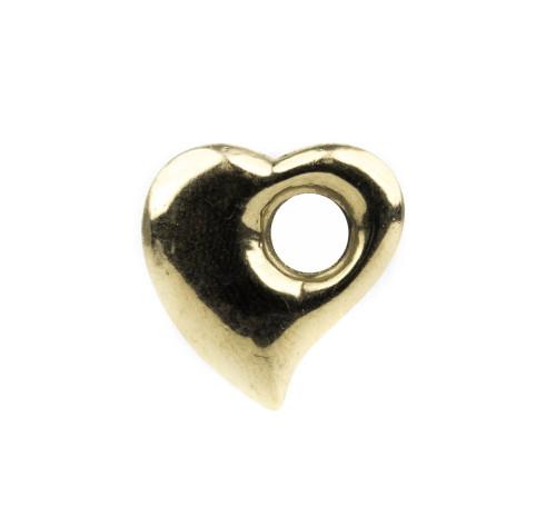 Vintage Peter Brams PBD 14K Gold Modernist Heart Pendant