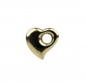 Vintage Peter Brams PBD 14K Gold Modernist Heart Pendant