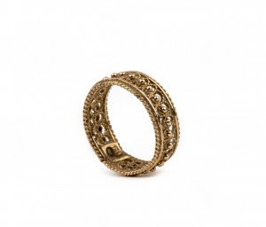 A Milgrain Filigree Antique Gold Ring Band