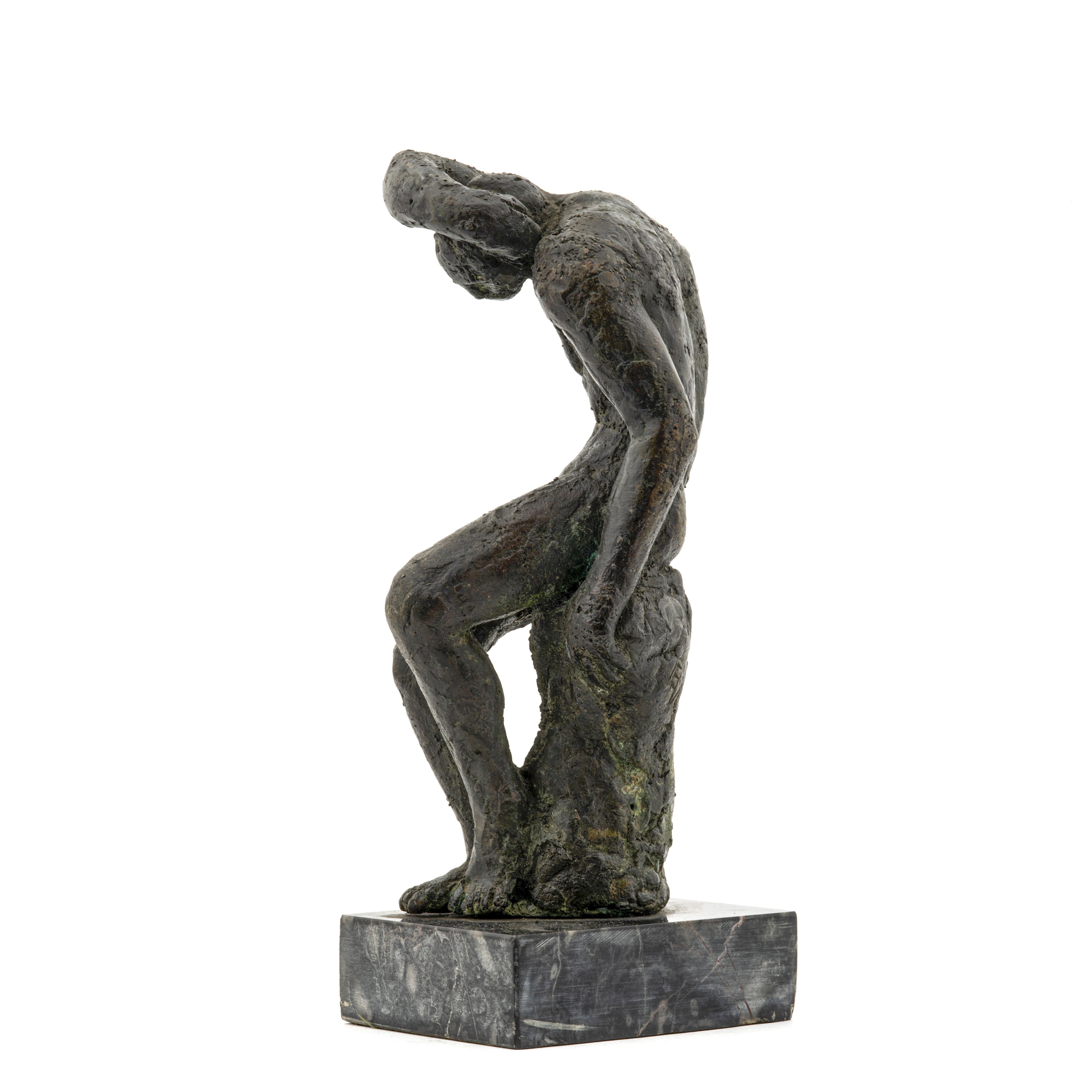 bronze man sculpture