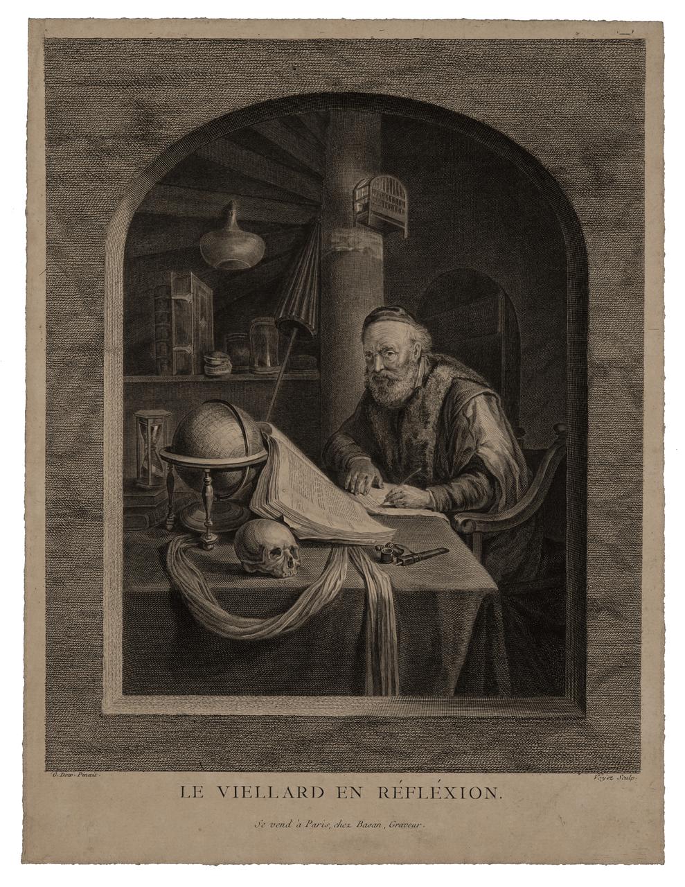 Nicholas Joseph Voyez 1742-1806, After Gerrit Dou Engraving