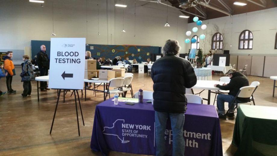 Hoosick; Blood testing event